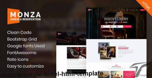 Monza - Single Hotel HTML Template By mesterthemes