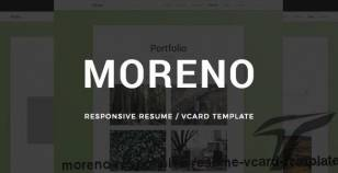 Moreno - Responsive Resume / vCard Template By mrthemes01