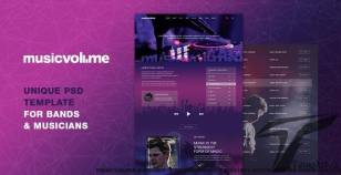 Musicvolume | A Modern Theme for Bands, Musicians, Artists and the Music Industry By lifeinsys