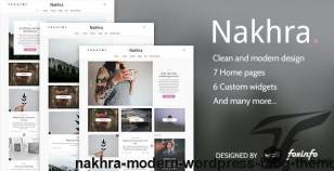 Nakhra - Modern WordPress blog theme By foxinfo