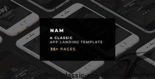 NAM -  Classic App Landing Template By fourtabsthemes