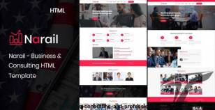 Narail - Business Consulting and Professional Services HTML Template By tonatheme