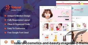 Natural - Cosmetics and Beauty Magento 2 Theme By magete