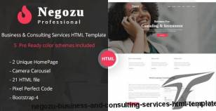 Negozu - Business and Consulting Services HTML Template By creativegigs