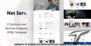 Netserv - IT Solutions and Services Company HTML Template By blue_design