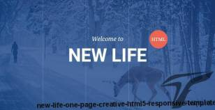 New Life - One Page Creative HTML5 Responsive Template By themewar