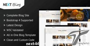 Next Blog - Responsive Ghost Theme By themeix