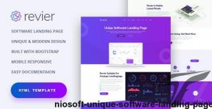 NioSoft - Unique Software Landing Page By coderspoint
