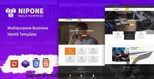 Nipone – Multipurpose Business HTML5 Template By third_eyes