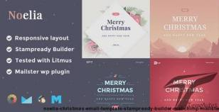 Noelia Christmas Email Template + Stampready Builder + Mailchimp + Mailster By myriadthemes
