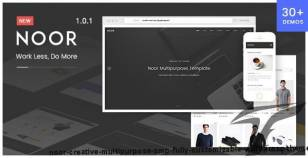 Noor | Creative Multipurpose & Fully Customizable WordPress Theme By pixeldima