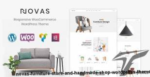 Novas | Furniture Store and Handmade Shop WordPress Theme By physcode