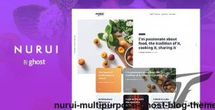 Nurui - Multipurpose Ghost Blog Theme By fueko