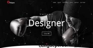 Obligue-Personal Template By ullash2250