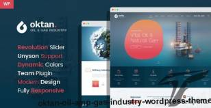 Oktan – Oil & Gas Industry WordPress Theme By wprollers