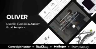 Oliver - Minimal Multipurpose Responsive Agency Email Template - StampReady + Mailster + Mailchimp By grapestheme