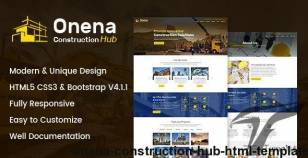 Onena Construction Hub HTML Template By sonia_dev