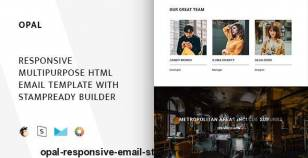 Opal – Responsive Email + StampReady Builder & Mailchimp