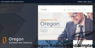 Oregon - Finance HTML Template By max-themes