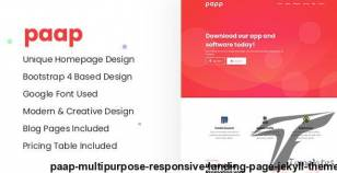 Paap - Multipurpose Responsive Landing Page Jekyll Theme By themeix