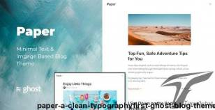 Paper - A Clean, Typography-First Ghost  Blog Theme By rohitkrops