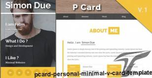 Pcard - Personal  Minimal V card Template By rddesigns7