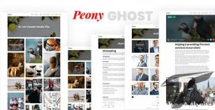 Peony - Responsive Premium Ghost Theme By themeix_lab