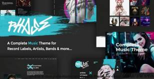 Phase - A Complete Music WordPress Theme for Record Labels and Artists By wolf-themes