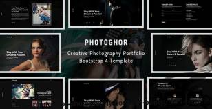 Photoghor - Photography Portfolio Bootstrap 4 Template By hastech
