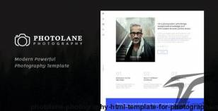 Photolane | Photography HTML Template for Photographers By frenify