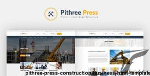 Pithree Press - Construction Business HTML Template By eitthemes