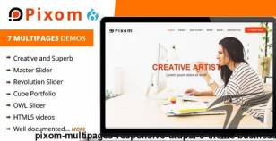 Pixom - Multipages Responsive Drupal 8 Theme | Business By drupalet
