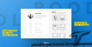 Poodle - Personal HTML Template By anarchypuppy