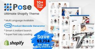 Pose - Fashion Shopify Theme Multipurpose Responsive Template By themetidy