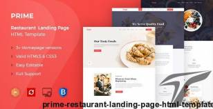 Prime - Restaurant Landing Page HTML Template By yogsthemes