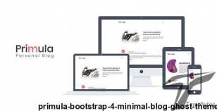 Primula - Bootstrap 4 Minimal Blog Ghost Theme By themeix