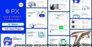 PXaas - App & Software Landing Page Theme By cththemes