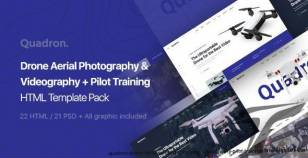 Quadron | Drone Aerial Photography & Videography + Pilot Training HTML Template Pack By artureanec