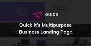 Quick - Multipurpose Business Landing Page HTML5 Template By champtheme