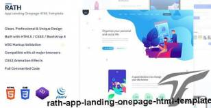 RATH - App Landing Onepage HTML Template By andit_themes