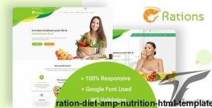 Ration | Diet & Nutrition Html Template