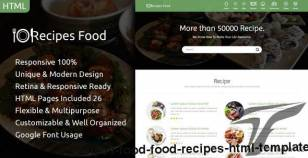Recipes Food - Food Recipes HTML Template By themearabia