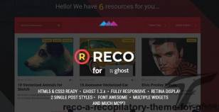 Reco - A recopilatory theme for Ghost