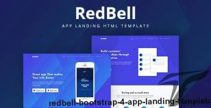 RedBell - Bootstrap 4 App Landing Template By mital_04