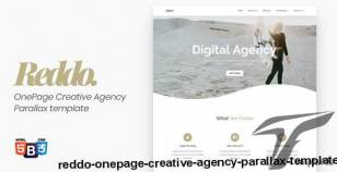 Reddo - OnePage Creative Agency Parallax template By onepageboss