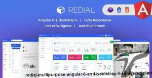 Redial - Multipurpose Angular 6 and Bootstrap 4 Admin Template By psd2allconversion