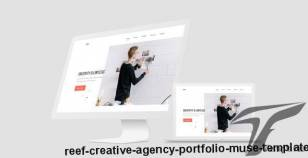REEF - Creative Agency Portfolio Muse Template By juliapovarkova