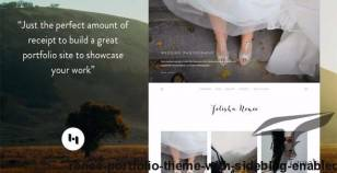 Renee: Portfolio Theme With Sideblog Enabled By heybi