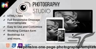 Responsive One Page Photography Template By multipurposethemes