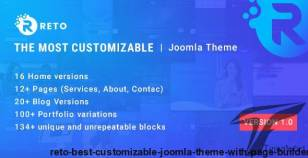 Reto - Best Customizable Joomla Theme With Page Builder By leoalv